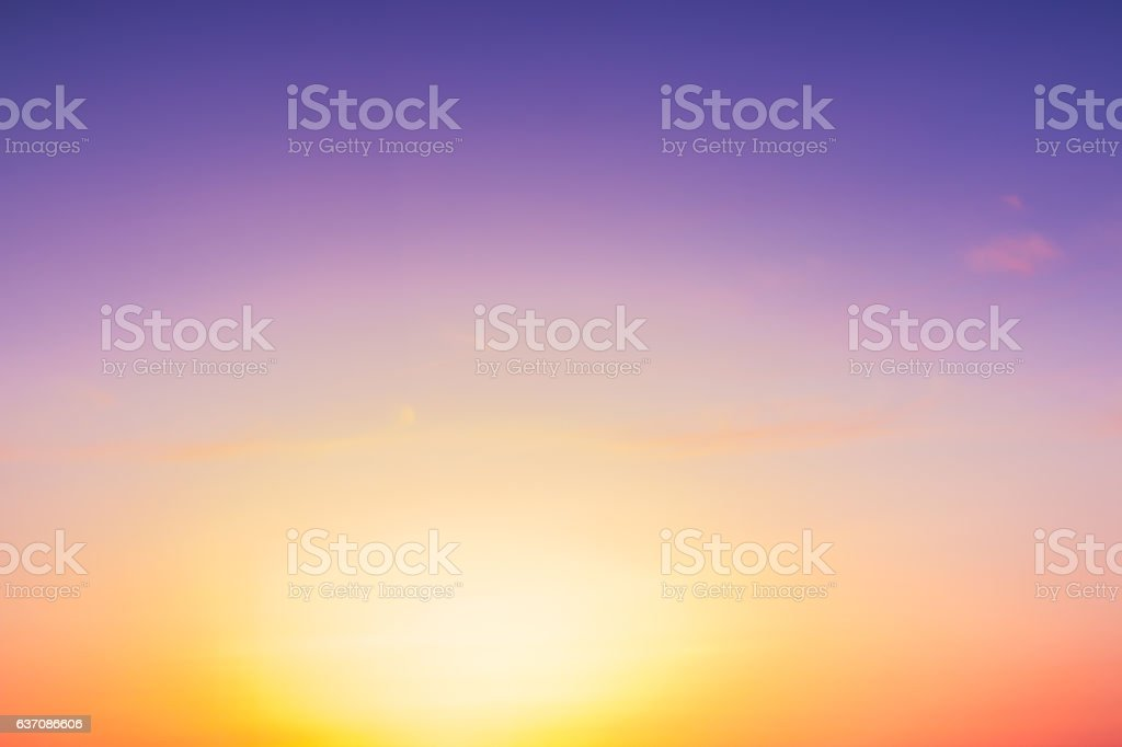 Colorful dramatic sky against sunset time beautiful background. stock photo