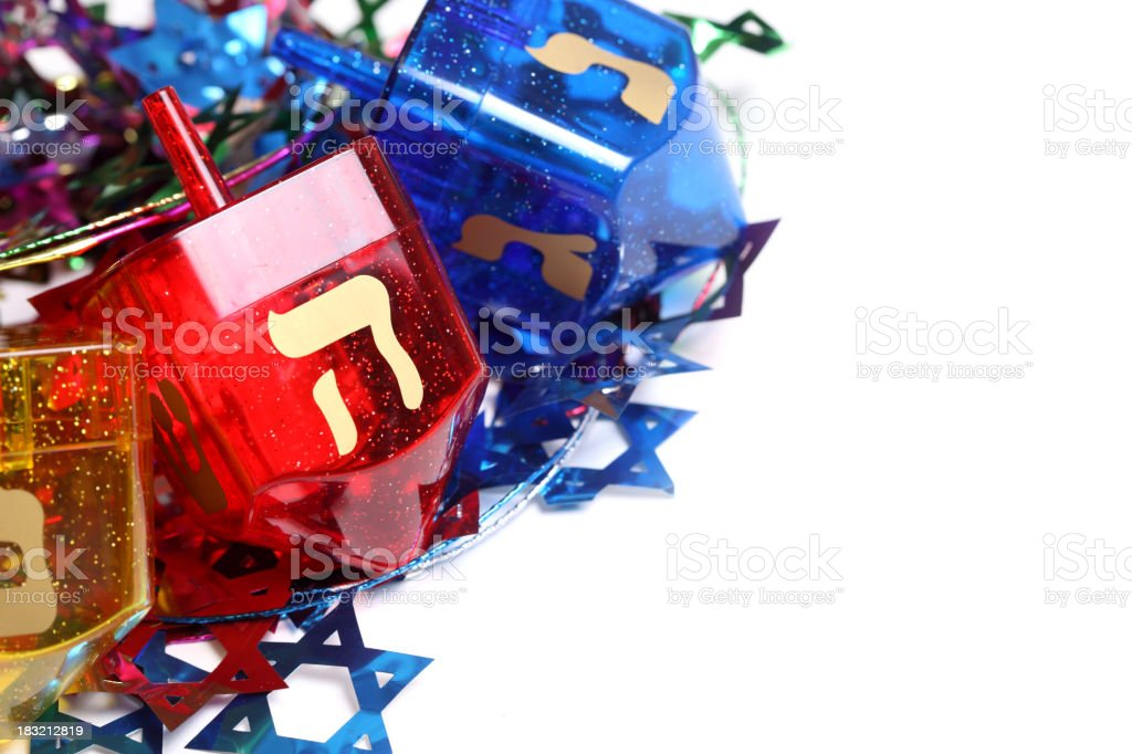Colorful Dreidels royalty-free stock photo