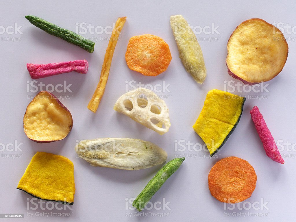 Colorful dried vegetables royalty-free stock photo