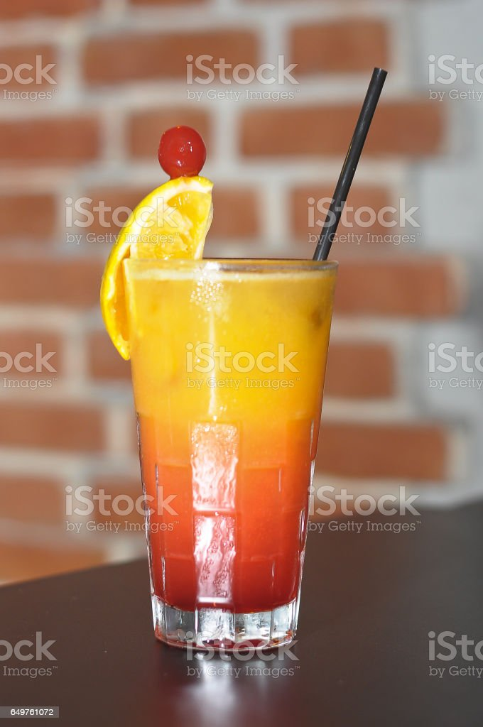 Colorful drink cocktail stock photo