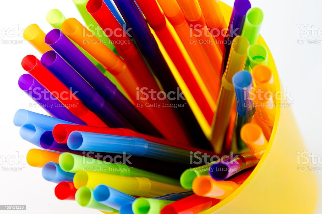 Colorful drinking straws royalty-free stock photo