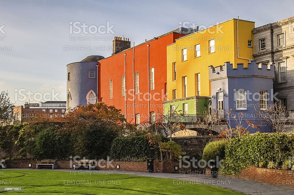 Colorful Dublin Castle stock photo