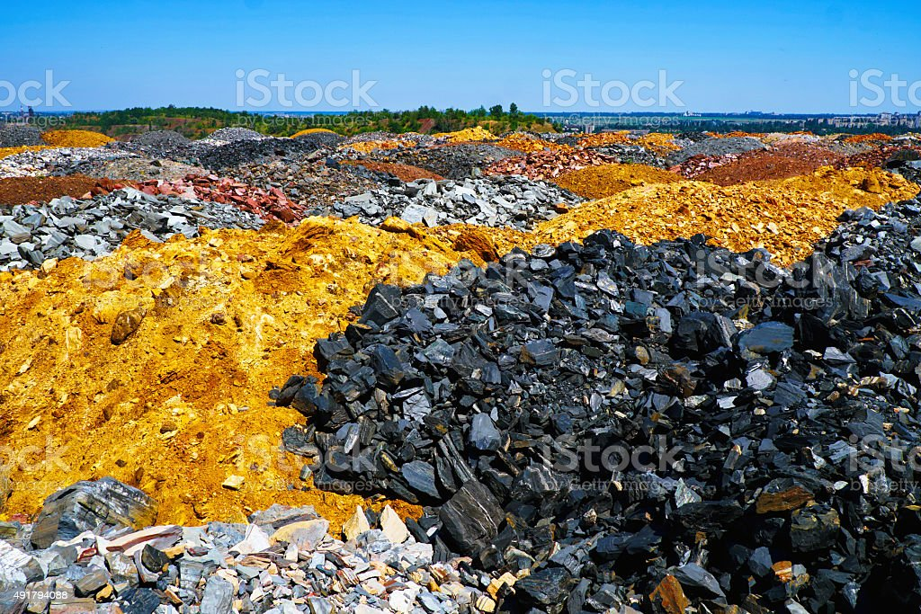 Colorful dumps stock photo