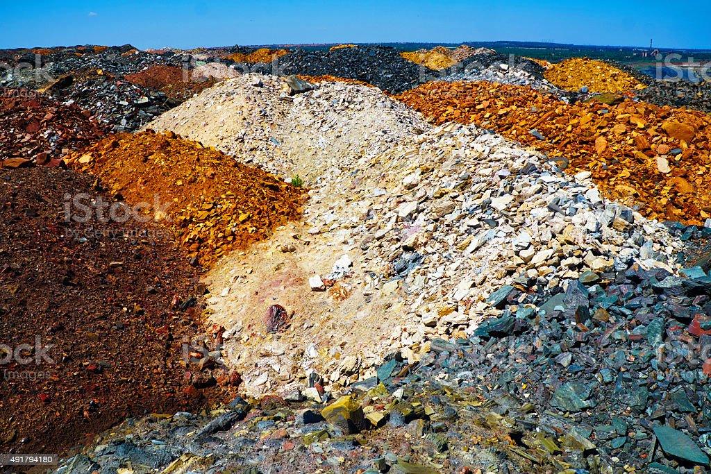 Colorful dumps stock photo