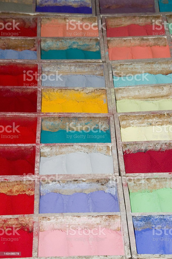Colorful dyes royalty-free stock photo