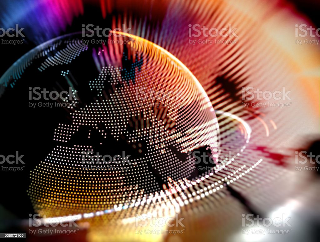 Colorful Earth Globe Europe and North Africa Abstract Concept stock photo