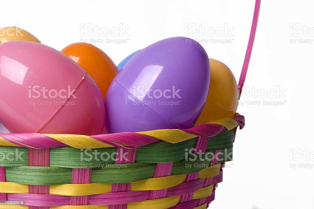 colorful easter basket up close royalty-free stock photo