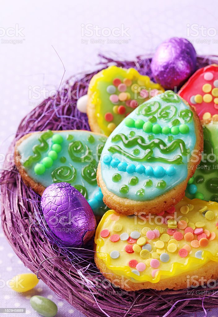 Colorful easter cookies royalty-free stock photo