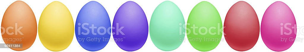 Colorful Easter Eggs All In A Row royalty-free stock photo