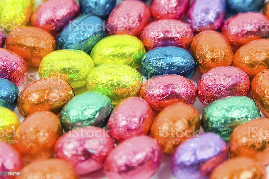 Colorful Easter Eggs Background royalty-free stock photo