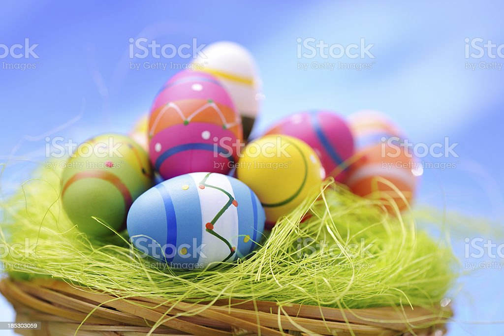 Colorful Easter Eggs royalty-free stock photo