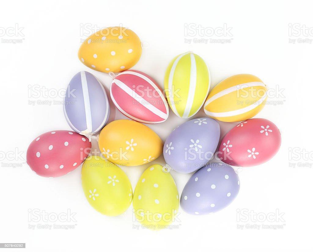 Coloridos huevos de Pascua foto de stock libre de derechos