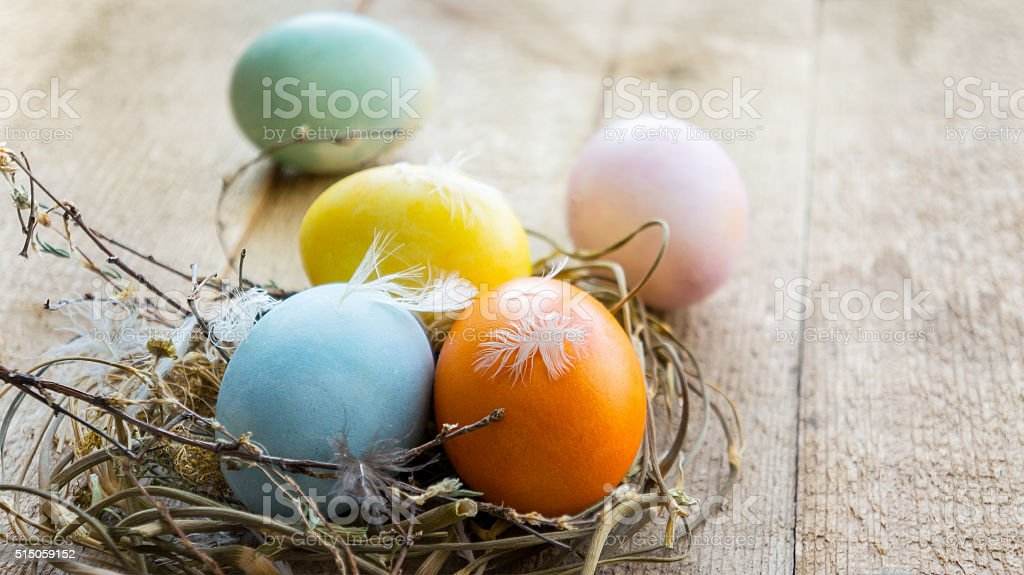Ovos de Páscoa coloridos foto de stock royalty-free