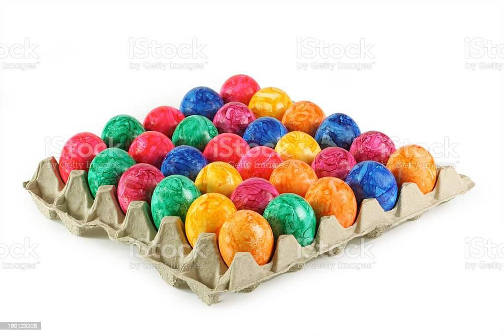 Colorful eggs royalty-free stock photo