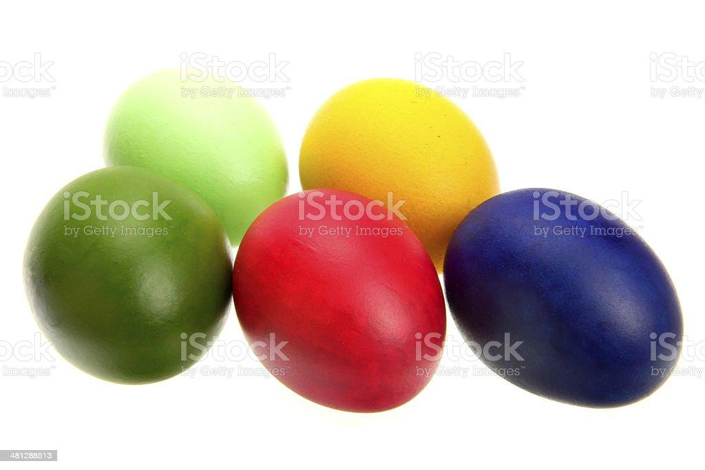 colorful eggs stock photo