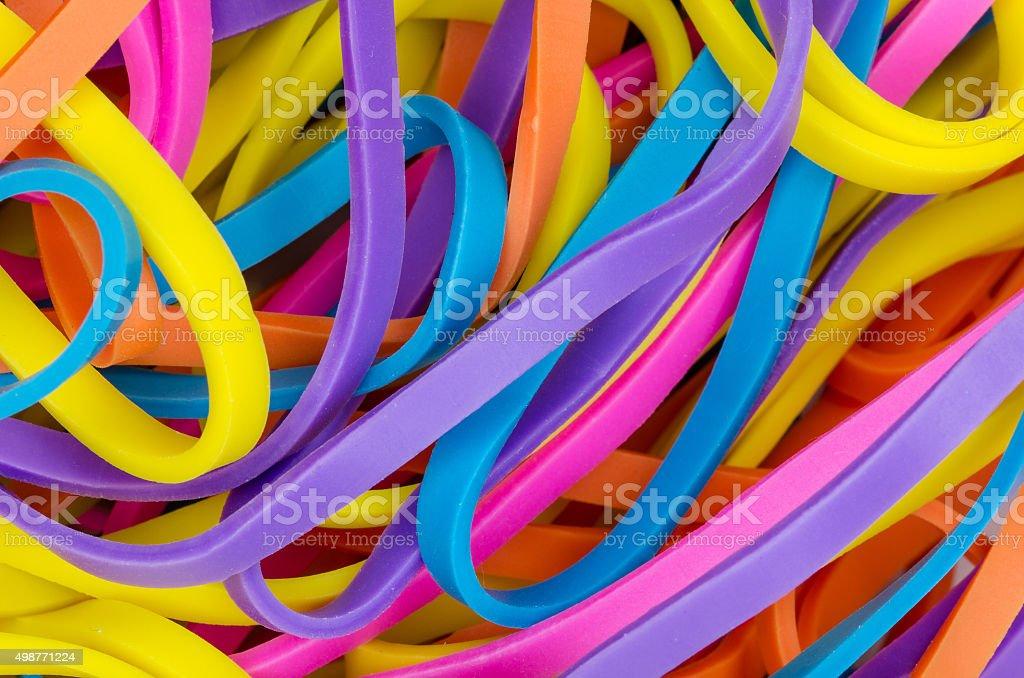 Colorful elastics stock photo