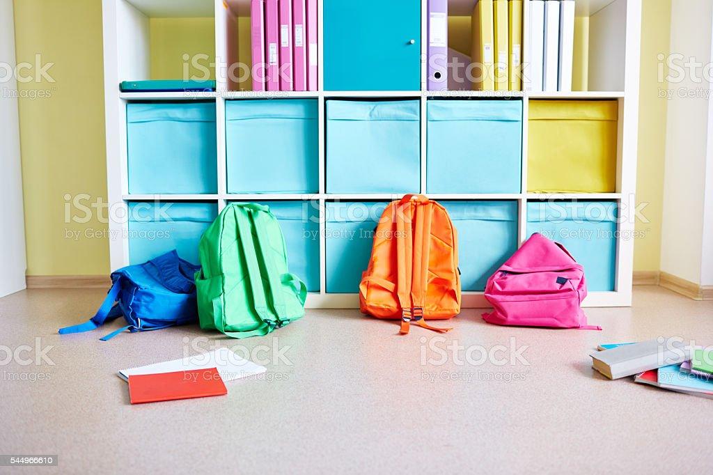 Colorful elementary school stock photo