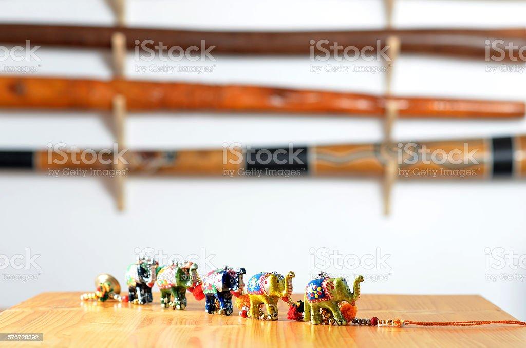 colorful elephant decoration stock photo