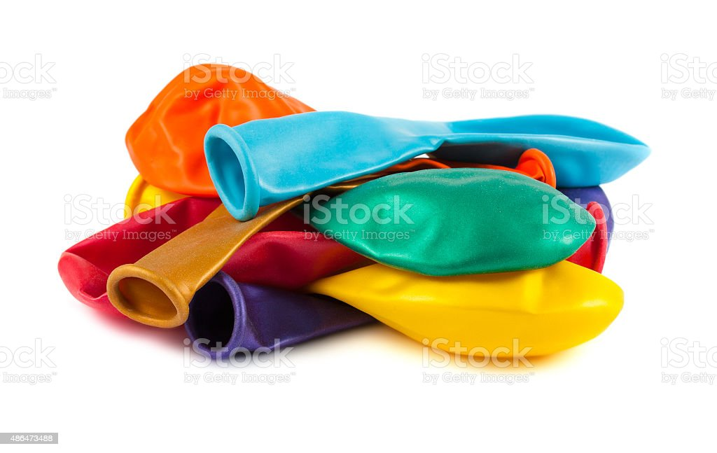 Colorful empty balloons stock photo