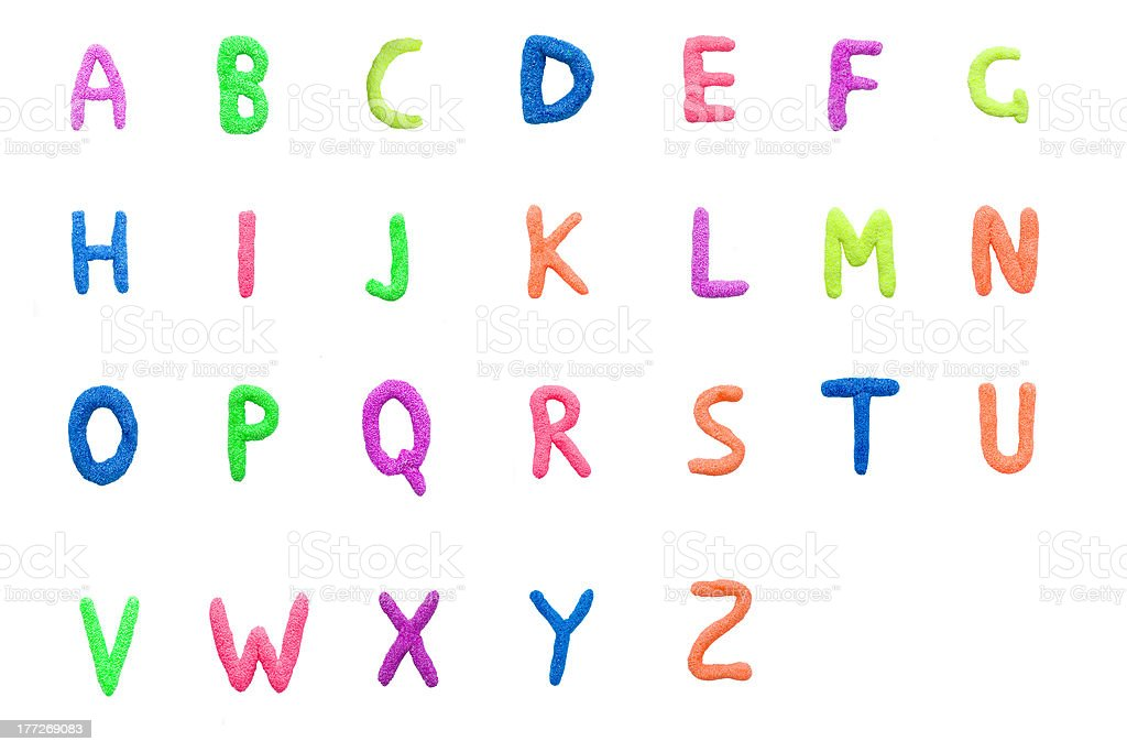 colorful English alphabet royalty-free stock photo