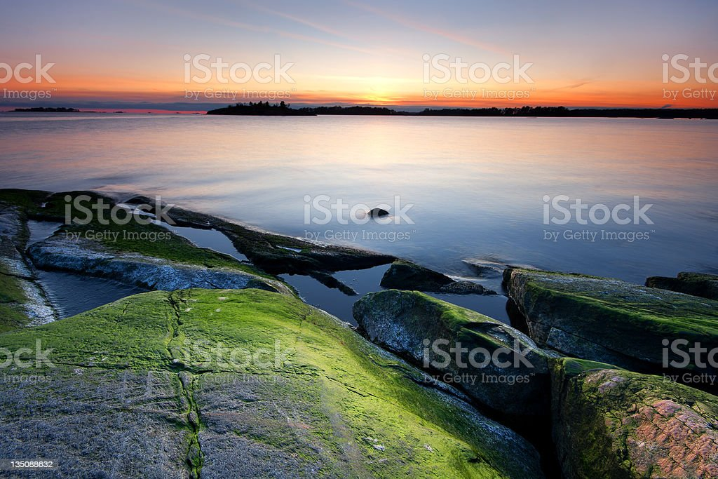 Colorful evening dawn royalty-free stock photo
