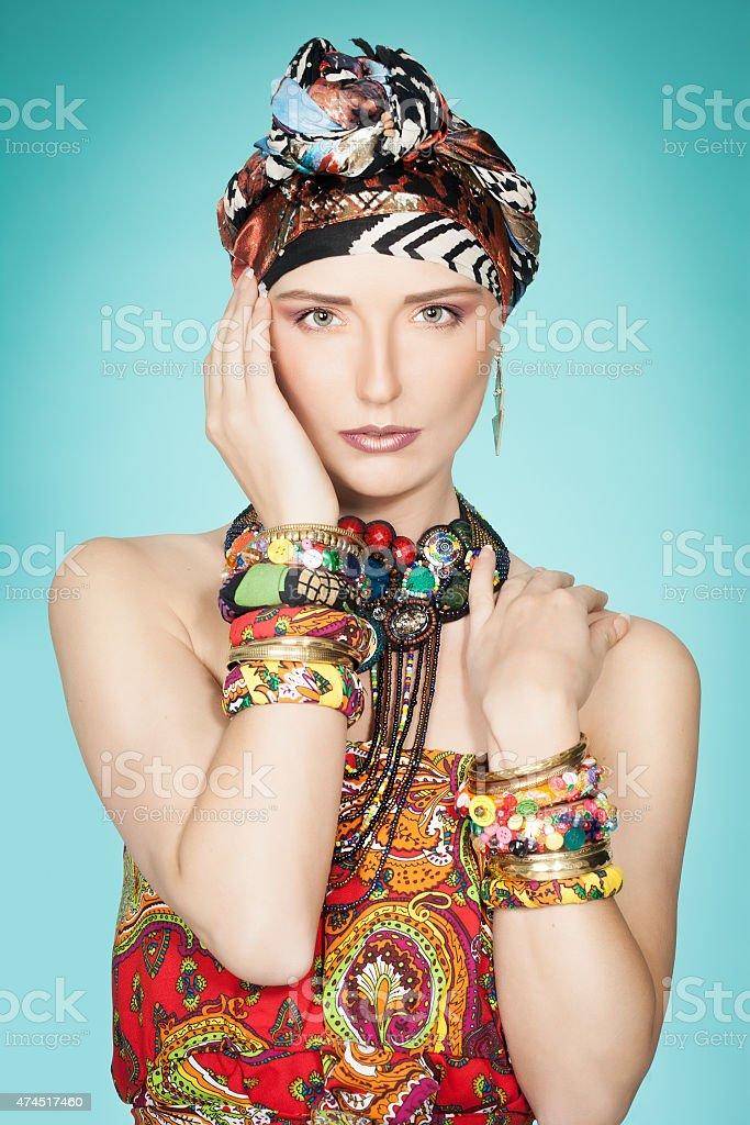 Colorful Exotic Fashion stock photo