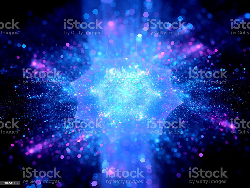 Colorful explosion in space stock photo