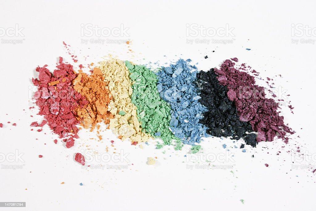 Colorful Eyeshadow on White Background royalty-free stock photo