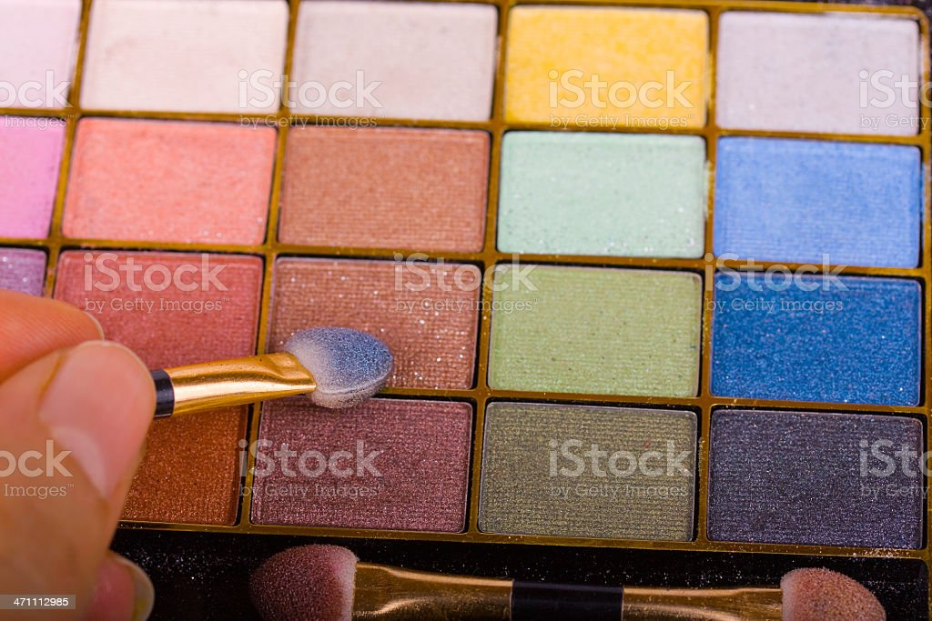 Colorful Eyeshadow with Blusher stock photo