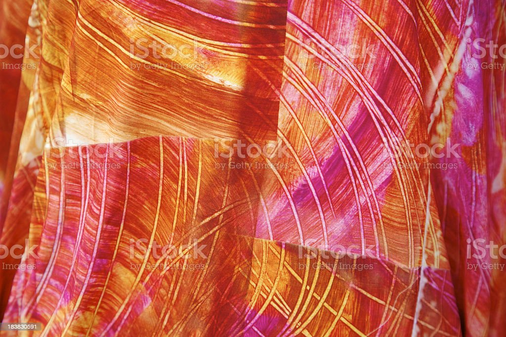Colorful Fabric Background, Pink, Orange, Abstract royalty-free stock photo