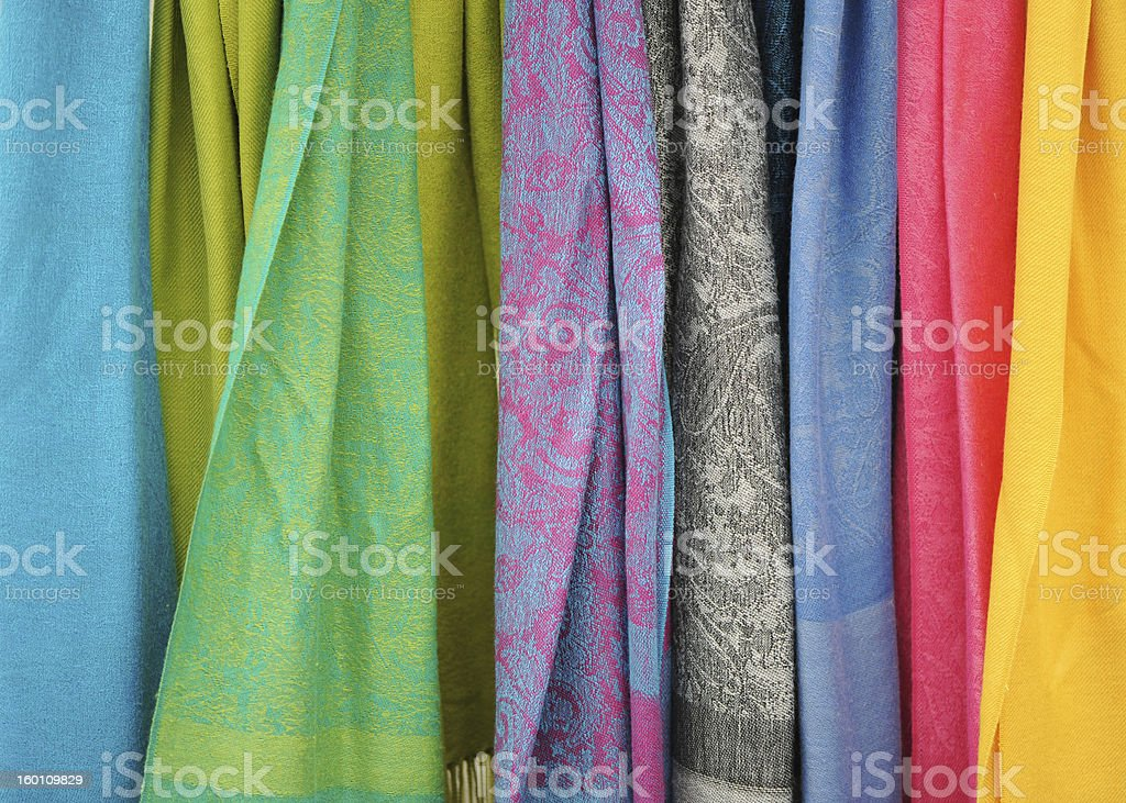 Colorful Fabric stock photo