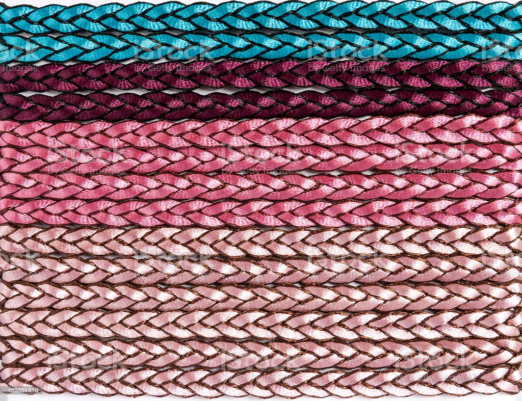 Colorful fabric rope royalty-free stock photo