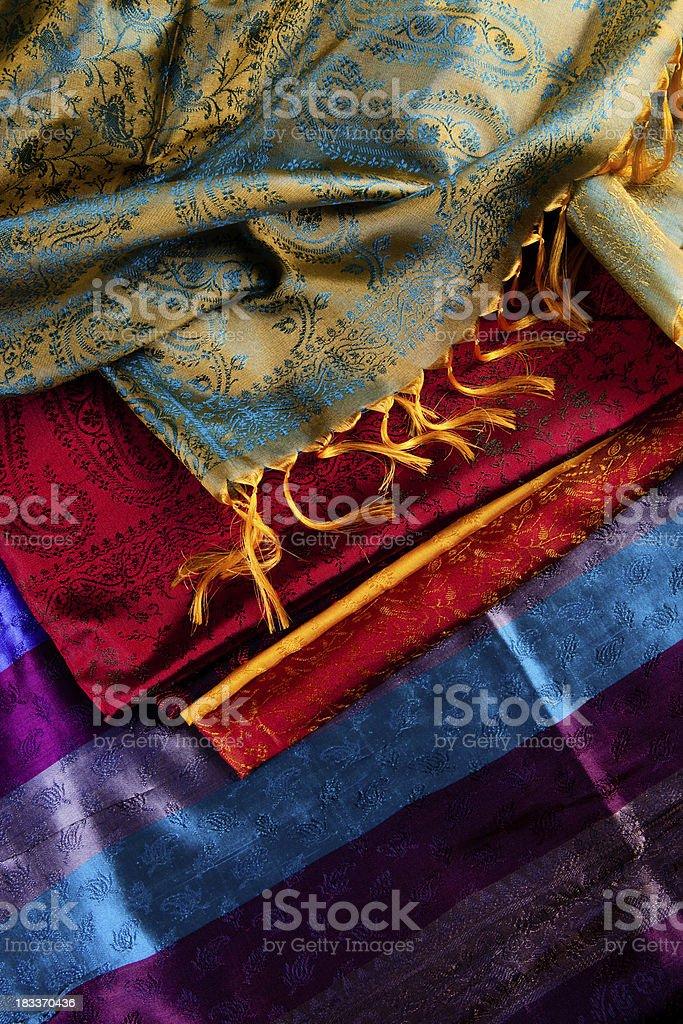 colorful  fabrics royalty-free stock photo