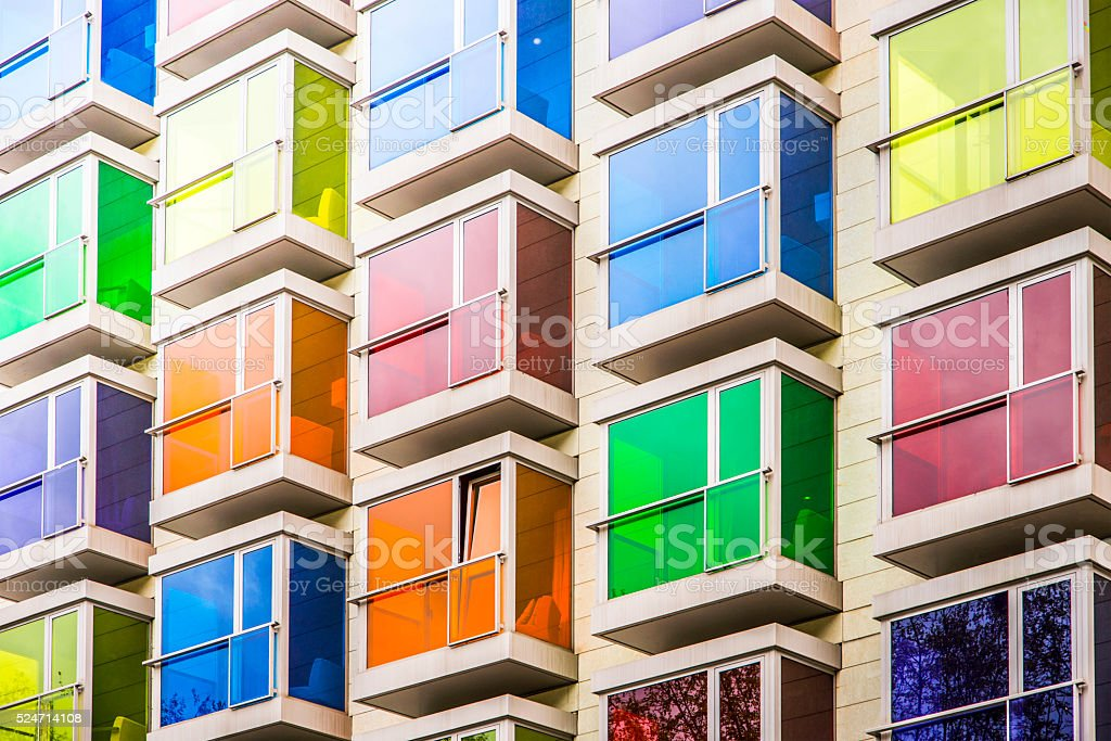 Colorful facade stock photo