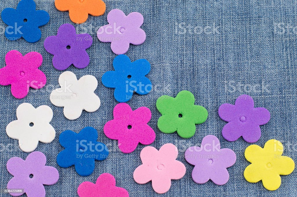 colorful fake paper  flowers stock photo