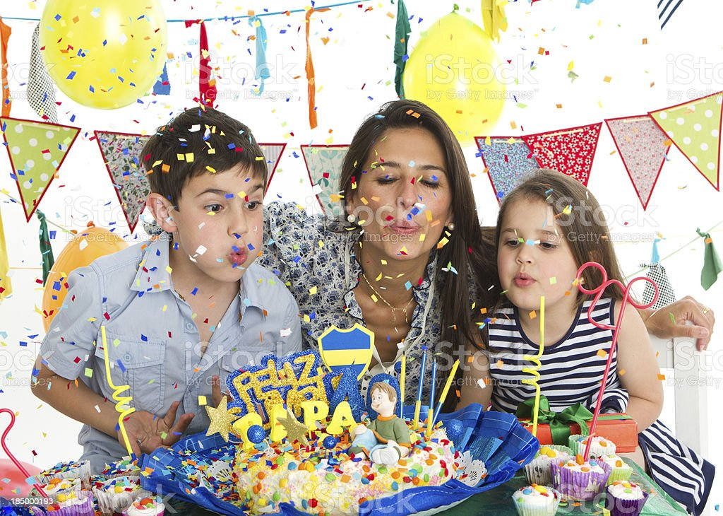 Colorful family party royalty-free stock photo