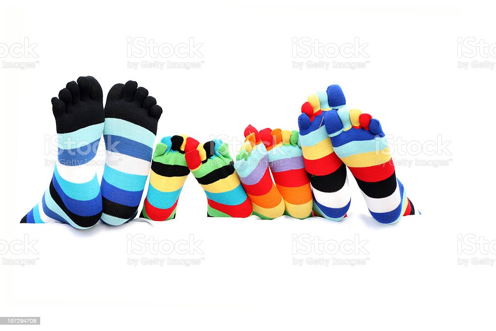 Colorful family socks royalty-free stock photo
