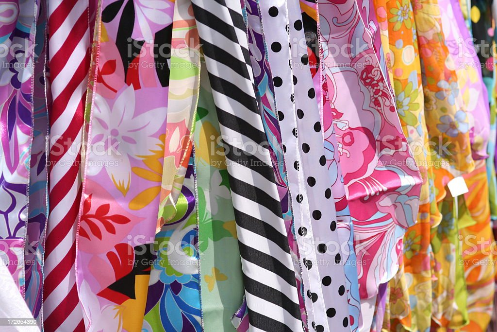 Colorful Fashion Scarves royalty-free stock photo