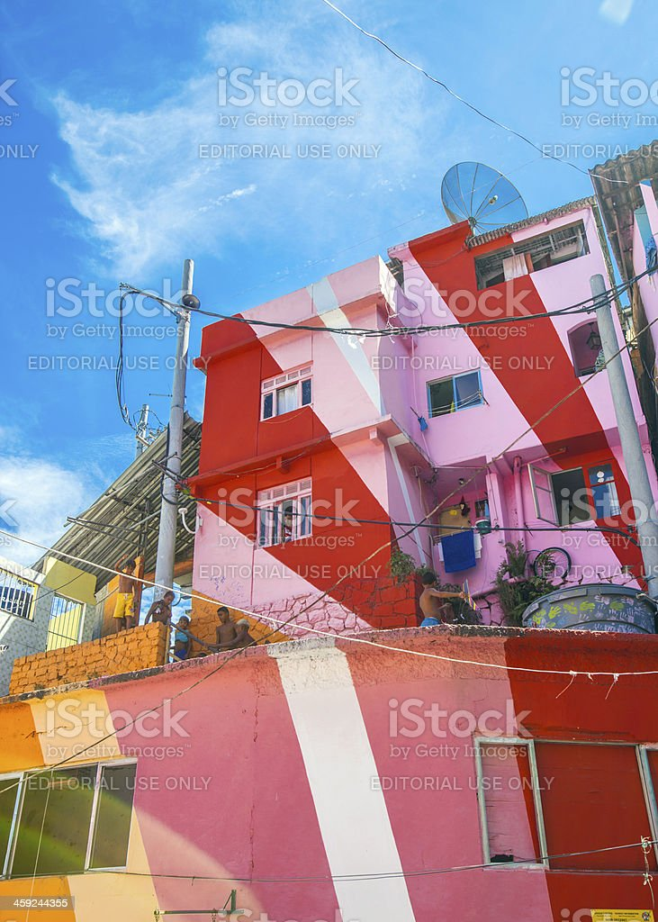 Colorful favela buildings. royalty-free stock photo
