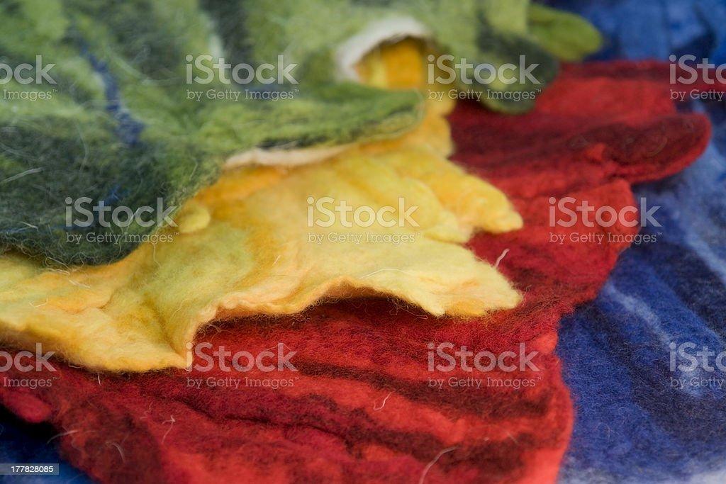 colorful felt stock photo