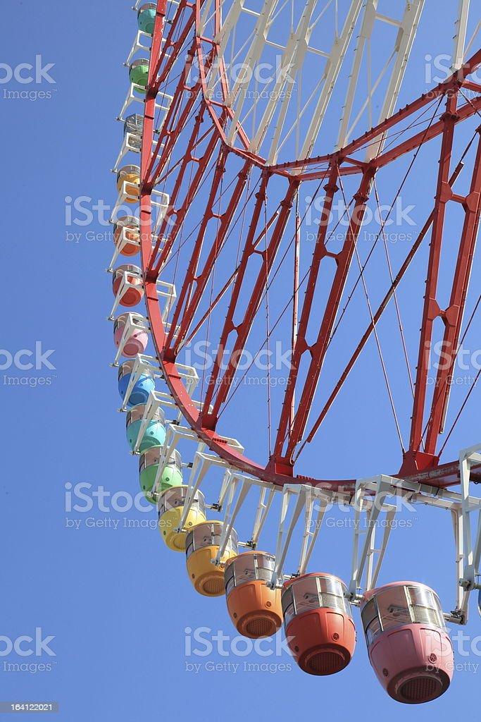 Colorful Ferris Wheel in Odaiba royalty-free stock photo