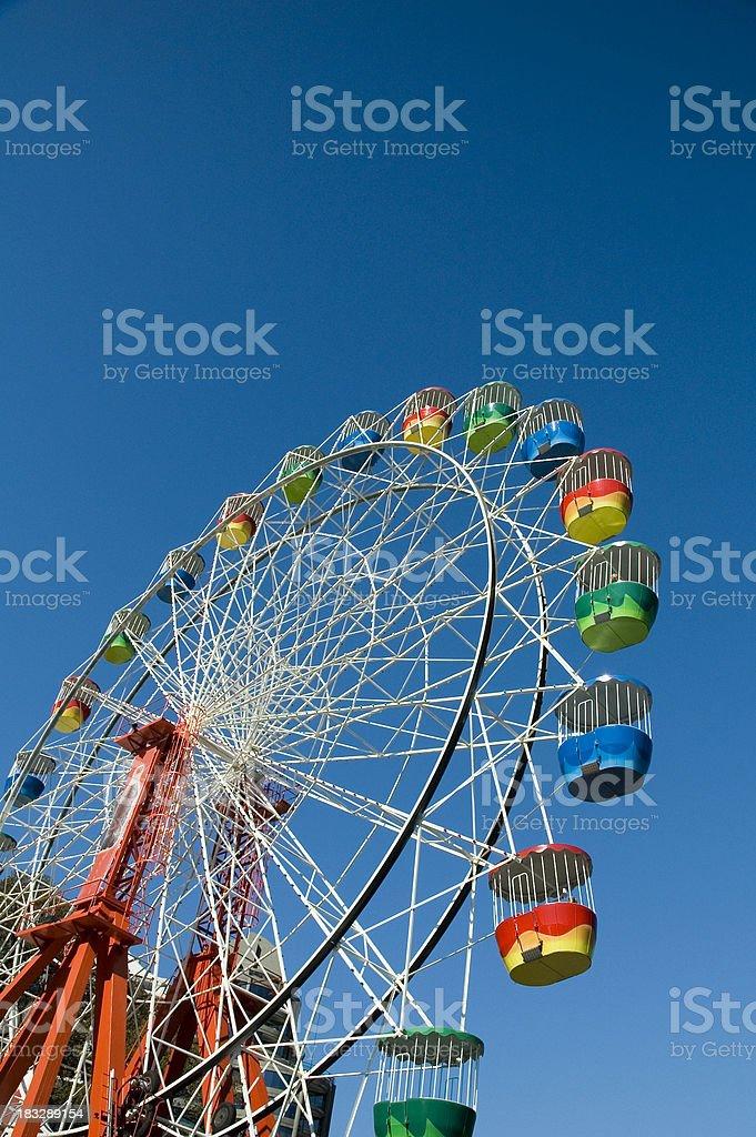 Colorful Ferris wheel in Sydney's Luna Park royalty-free stock photo