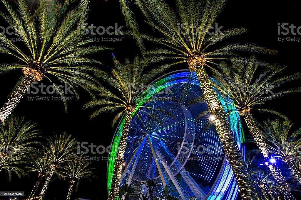 colorful ferris wheel stock photo