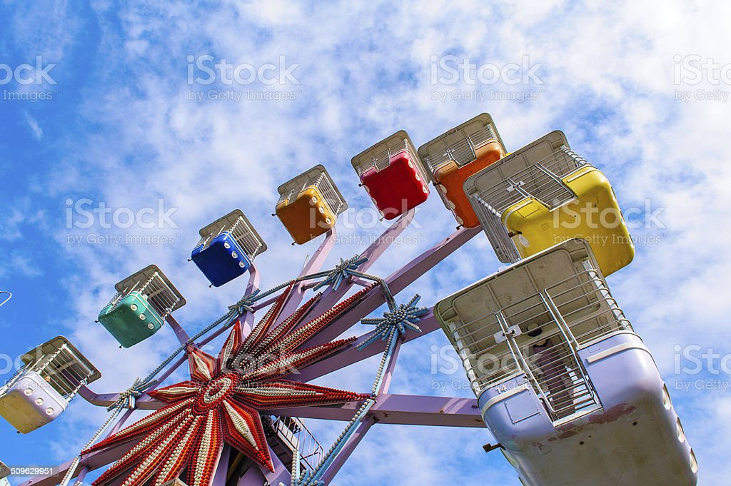 colorful ferris wheel stock photo