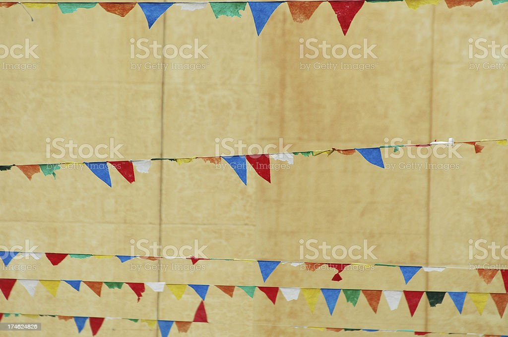 colorful festoons royalty-free stock photo