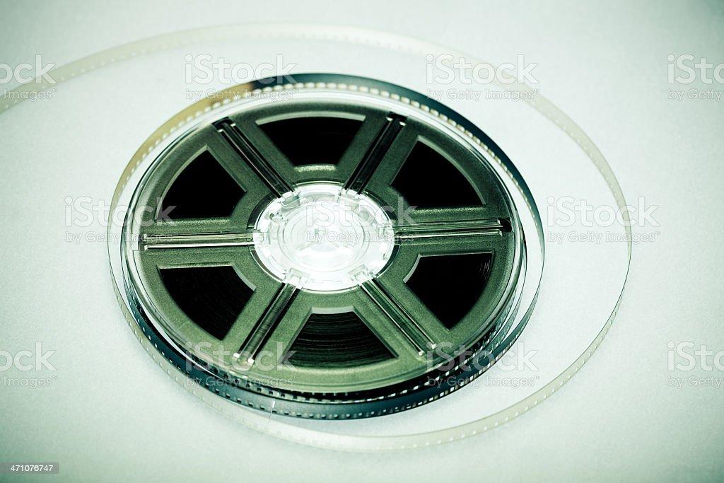 Colorful film reel stock photo