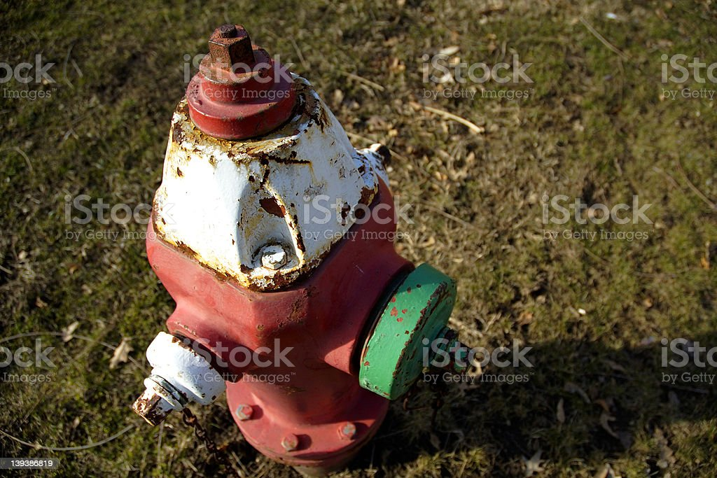 Colorful FIre Hydrant royalty-free stock photo