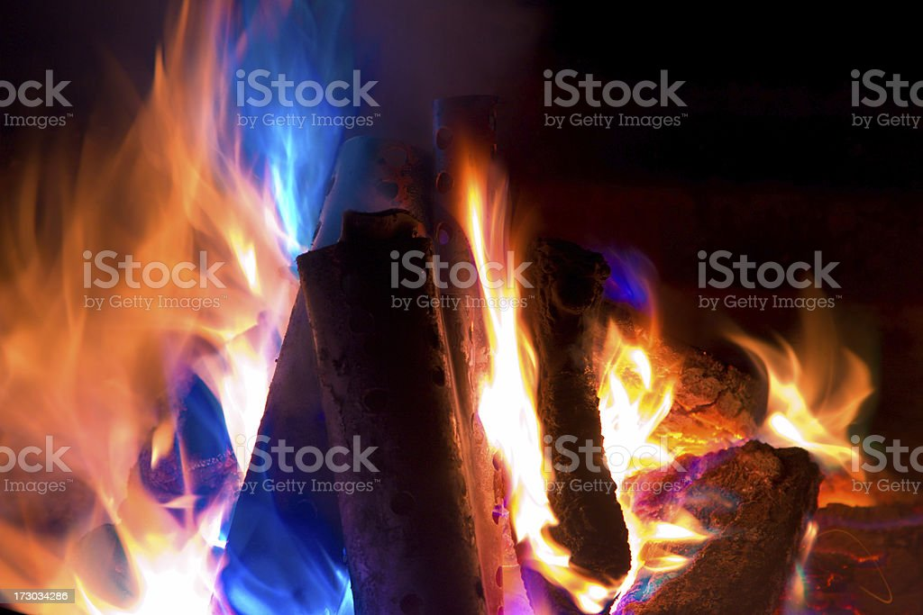 Colorful Fire royalty-free stock photo