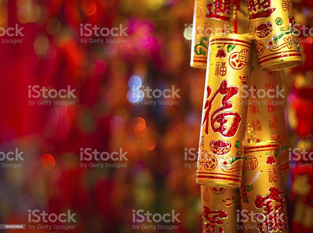Colorful Firecracker stock photo