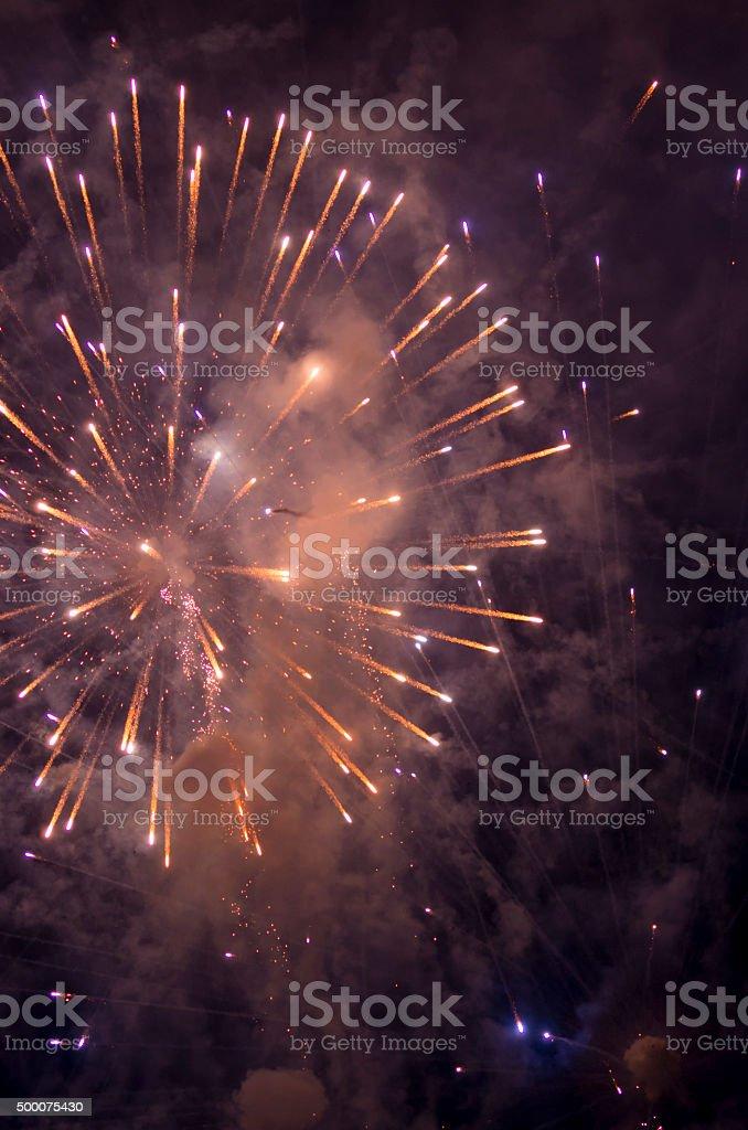 Colorful firework blast stock photo
